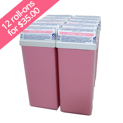 Buy 12 Pink Crème Roll-on Waxes for $35.00