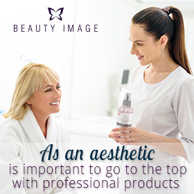 Esthetician and client talking about professional hair removal products