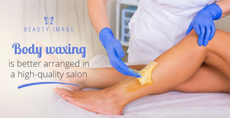 Esthetician in a Salon Waxing