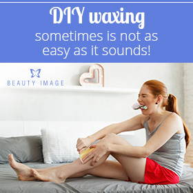 Girl Waxing at Home