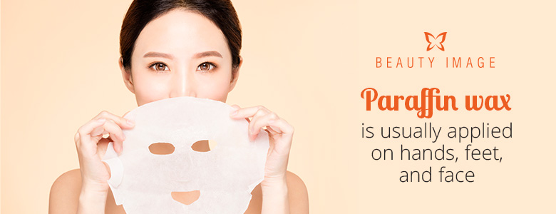 Woman with Paraffin wax Treatment Facial Mask