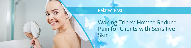 Painless Waxing Experience Woman Smiling with Towel on Head