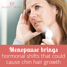 How to Get Rid of Coarse Chin Hair Woman Experimenting Menopause