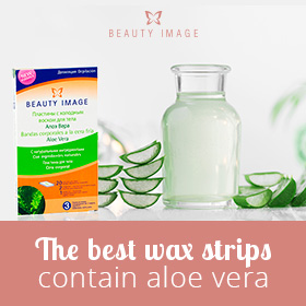 Hair Removal Products Aloe Vera Facial Strips Presentation