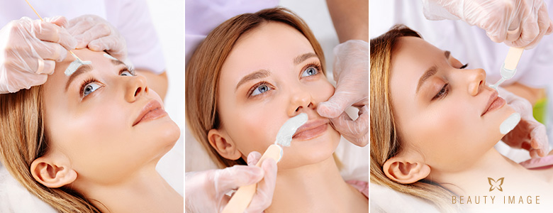 Facial Waxing on Brows, Upper Lip and Chin
