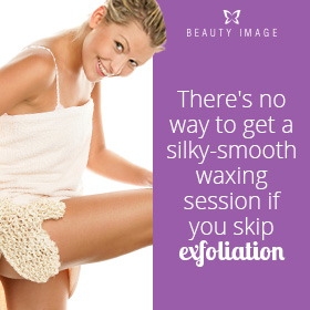 Woman Exfoliating Her Legs