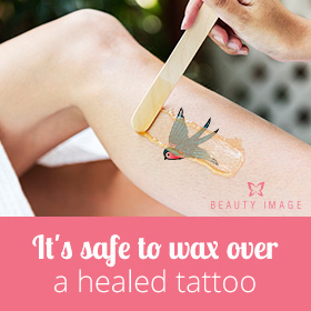 Can I Wax Over a Healed Tattoo?