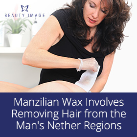 Manzilian Wax in Male Intimate Area