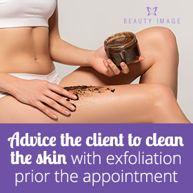 Exfoliation to Reduce the Pain of Waxing