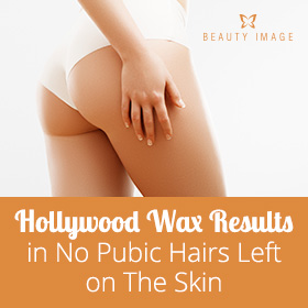 Hollywood Wax Results in No Pubic Hairs Left on The Skin