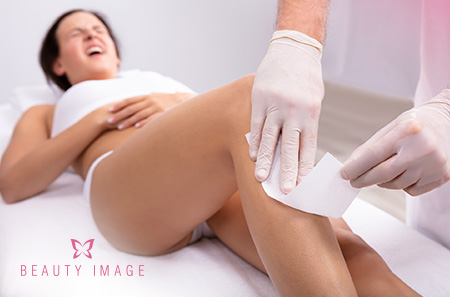 Woman in Waxing Session Less Painful