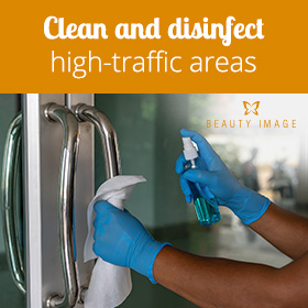 Cleaning and Disinfecting High-Traffic Areas For Coronovirus Prevention