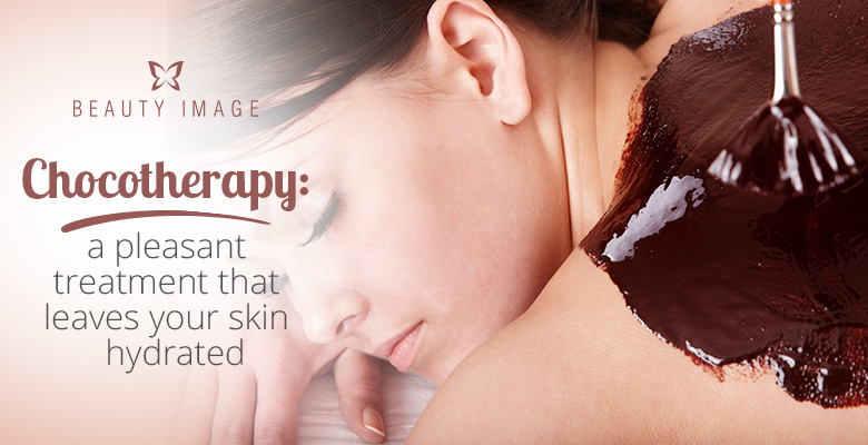 Woman Having Chocotherapy Body Mask at Spa
