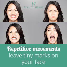 Repetitive Facial Expressions on Woman