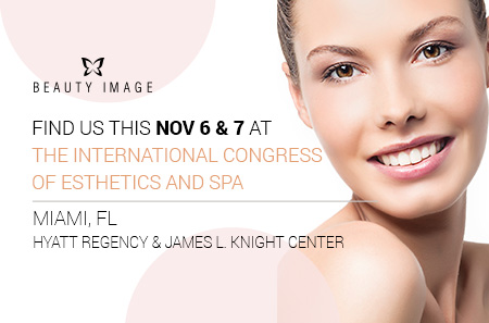 Don't miss the chance to check out Beauty Image's products at the International Congress of Esthetics and Spa